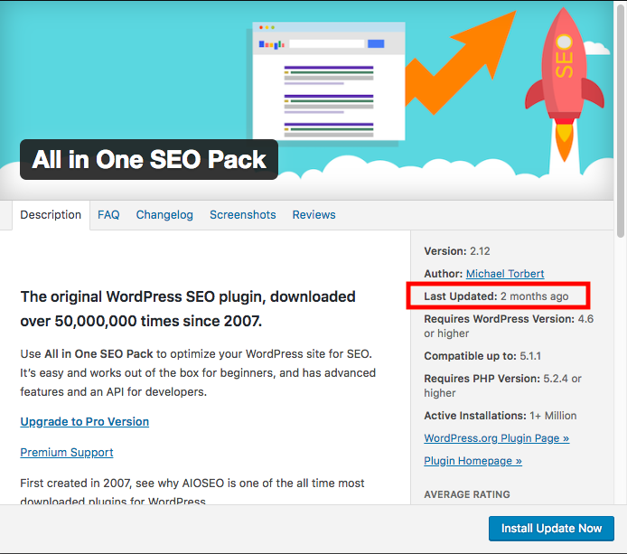 How to know when a WordPress plugin was last updated